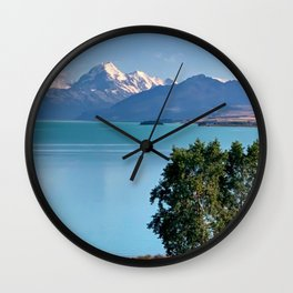 Lake Pukaki, New Zealand. Wall Clock
