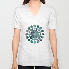 Floral Abstract 4 Unisex V-Neck