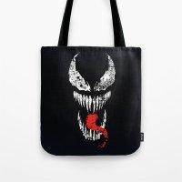 venom Tote Bags featuring Venom by WaXaVeJu