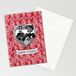 Amor Eterno | Eternal Love | Calavera Couple | Red | Black | Stationery Cards