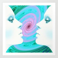 psychedelic Art Prints featuring Psychedelic by Emi Nellenbach