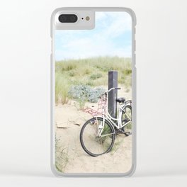 Seaside Bicycle Clear iPhone Case