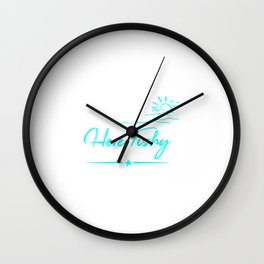 Here Fishy Funny Fishing Lover Fisherman Wall Clock