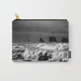 Waves Crashing on the Washington State Shoreline Carry-All Pouch