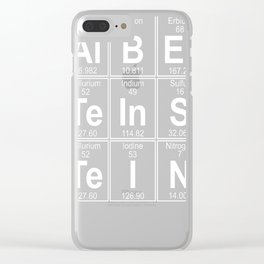 Al-B-Er-Te-In-S-Te-I-N (Albert Einstein) Clear iPhone Case