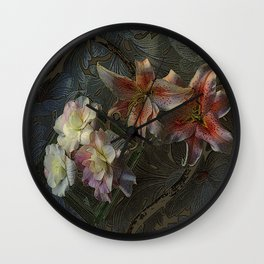 The Begonia Brocade Wall Clock