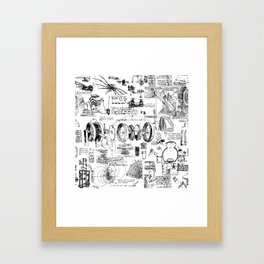 Da Vinci's Sketchbook Framed Art Print