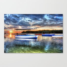 Estuary Sunset Costa Rica Canvas Print