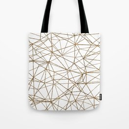 Geometric triangles glitter pattern. Modern stylish texture. Gold trendy glitter print background Tote Bag
