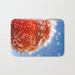 Bubbly Strawberry Bath Mat