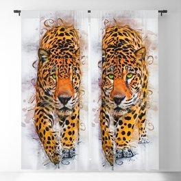 Cheetah Art Blackout Curtain