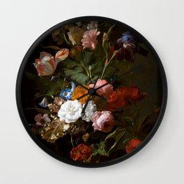 "Rachel Ruysch ""Vase with Flowers"" Wall Clock"