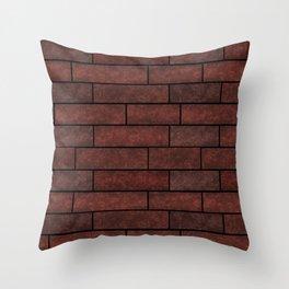 Brick wall , brick #stone #stonewall Throw Pillow