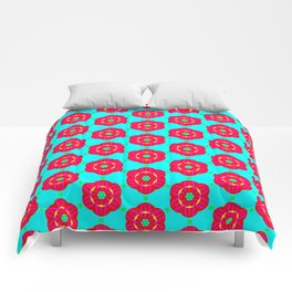 Funky red fowers pattern Comforters