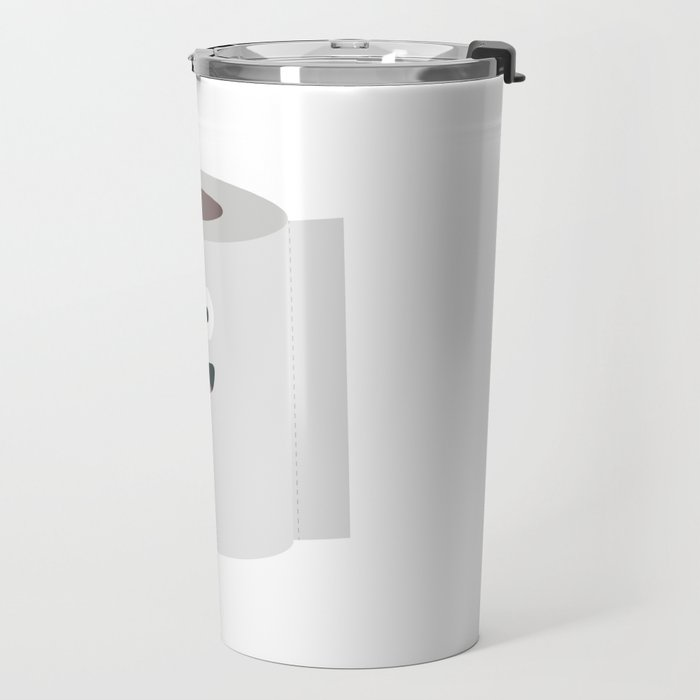 Toilet paper with face Travel Mug