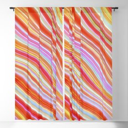 Wild Wavy Lines 23 Blackout Curtain