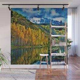 Western Rockies Aspen Forest & Lake Landscape by Jeanpaul Ferro Wall Mural