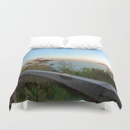 Coast Guard Beach overlook Duvet Cover