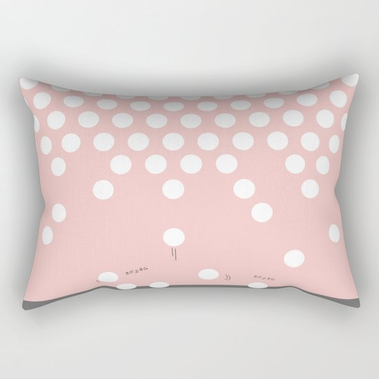 polka dots bounce Rectangular Pillow