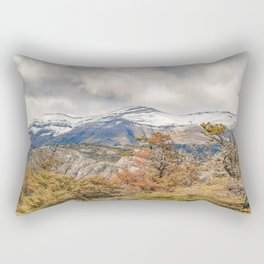 Forest and Snowy Mountains, Patagonia, Argentina Rectangular Pillow
