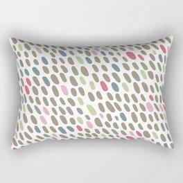 Abstract Dots Pattern Pastel Grey, Pink, Blue, Green Rectangular Pillow
