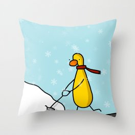 Snow Shoveling | Veronica Nagorny Throw Pillow