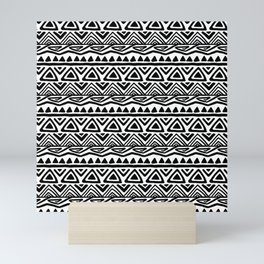 BOHO ETHNIC PATTERN 2 Mini Art Print