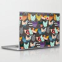 cincinnati Laptop & iPad Skins featuring Cincinnati Chickens by Sharon Turner