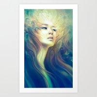crown Art Prints featuring Crown by Anna Dittmann