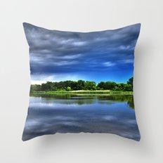 Rock Cut State Park - HDR Throw Pillow