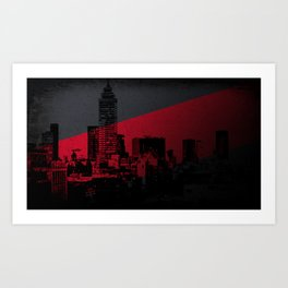 A glance at the city Art Print
