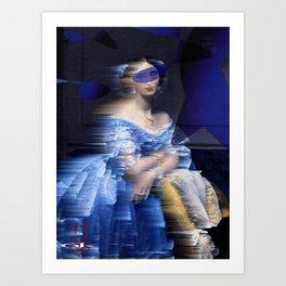 bluedress Art Print