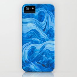 Endless Blue. Abstract Design iPhone Case