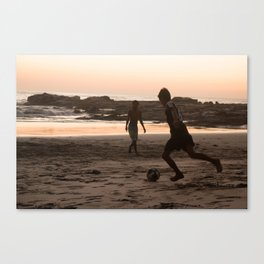 Soccer at Sunset II Canvas Print