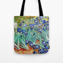 Irises Painting by Vincent van Gogh Tote Bag