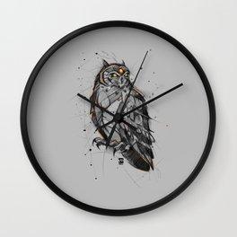 owl sketch psdelux Wall Clock