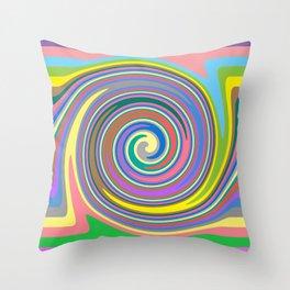 Rainbow swirl pattern Throw Pillow