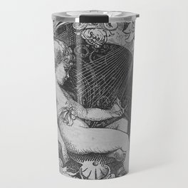 Cherub | Angels Vintage | Victorian | Sketch | Letter B Travel Mug