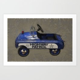 Highway Patrol Pedal Car Art Print