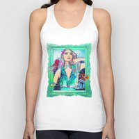 pisces Tank Tops featuring Pisces by Sara Eshak