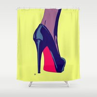shoe Shower Curtains featuring Shoe by Giuseppe Cristiano