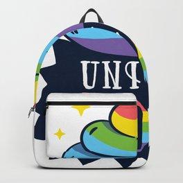 Rainbow Poop Emoji - Magic Unicorn Poo Funny T-Shirt Backpack