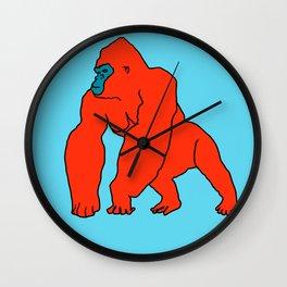 The Orange Gorilla Wall Clock