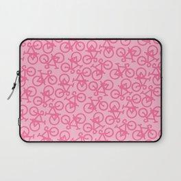 Pastel Pink Bikes Pattern Laptop Sleeve
