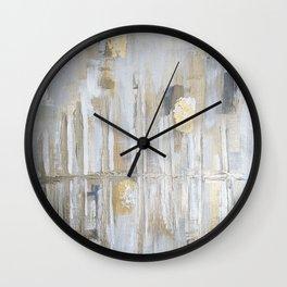 Metallic Abstract Wall Clock