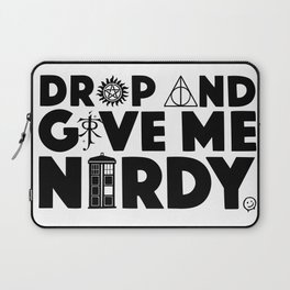Drop and Give Me Nerdy Laptop Sleeve