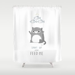 Hungry Cat Shower Curtain