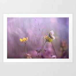 It's only me.... and this little one... Art Print