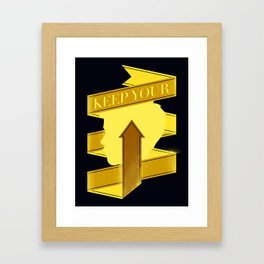 Keep Your Head Up. Framed Art Print
