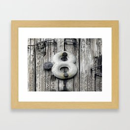 Crazy 8 Framed Art Print